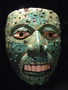 Masque de dieu aztèque